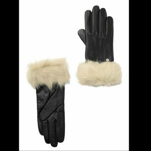 NWT UGG Leather Gloves SZ Small Touch Screen